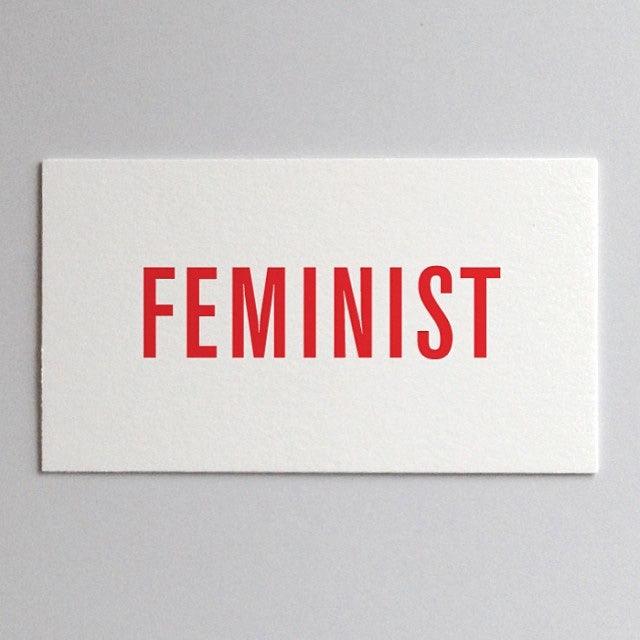 Feminist Card by Jen Armbrust