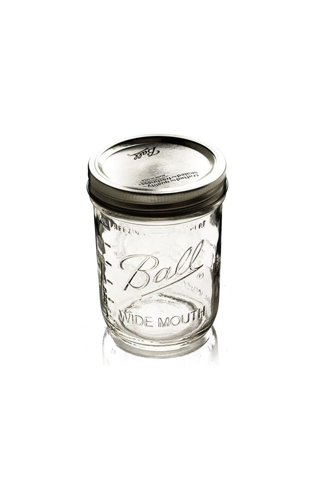 Wide Mouth Mason Jars (16 oz)