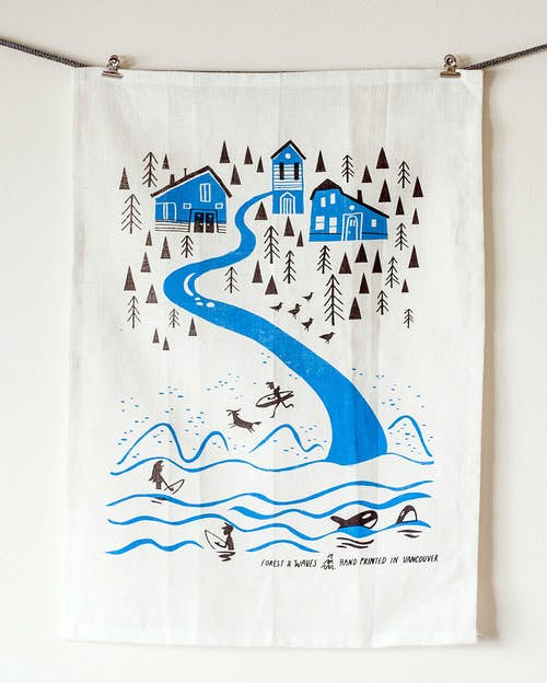 Northwest Coast Linen by Forest & Waves