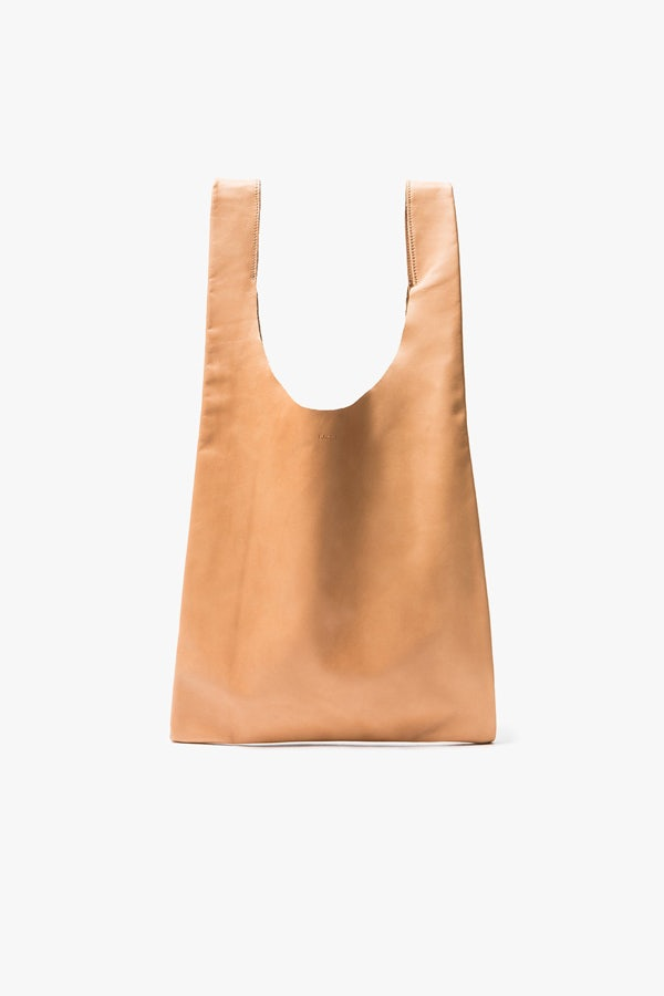 Leather Shopping Bag by Baggu