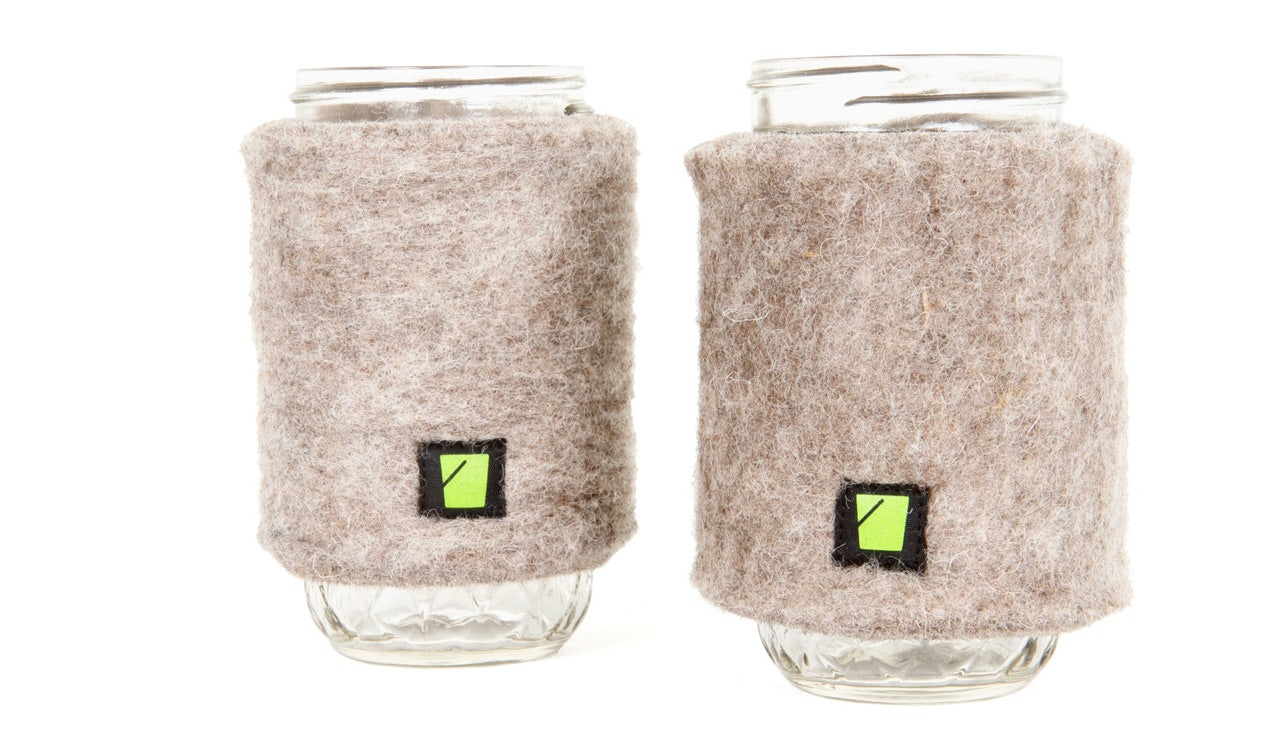 Wool Cup Cozies with Jars by Bucket PDX